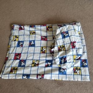 Vintage Mickey Mouse Top Sheet & Mattress Cover